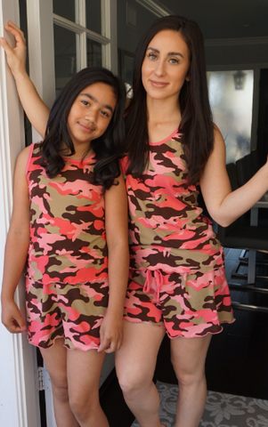 Kids Blush Camo Cozy Pajama Boxer Sets