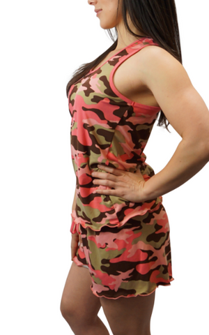Blush Camo Cozy Pajama Boxer Set