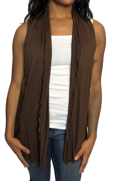 Brown Peeka Vest