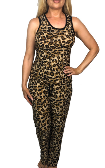Cheetah Print Pajama Pants Set