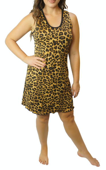 Cozy Leopard Night Gown