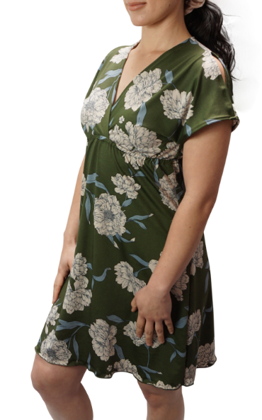 Olive Bloom Athena Dress