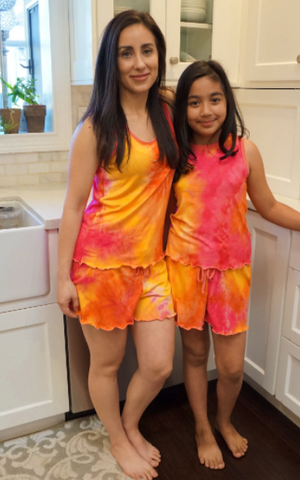 Kids Popsicle Cream Tie Dye Cozy Pajama Boxer Sets