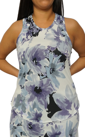 Lavender & Gray Fitness Tank II
