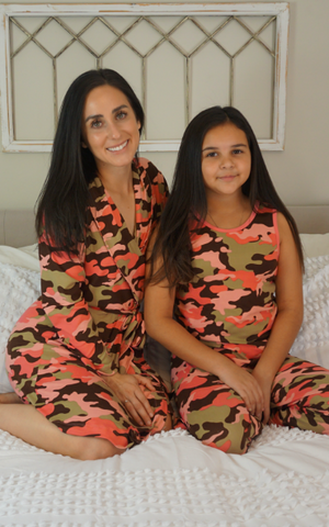 Blush Camo Cozy Robe II