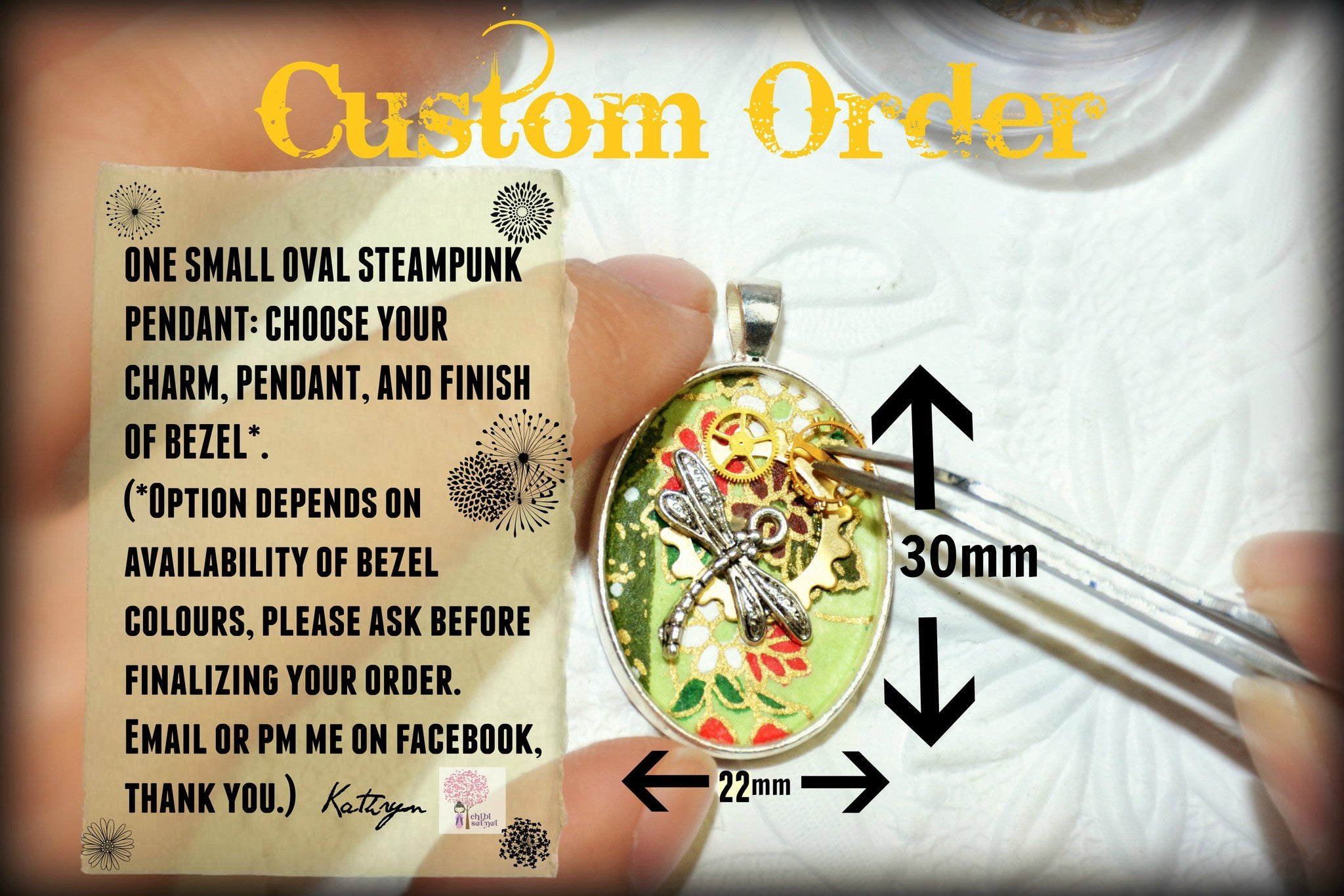 Custom Order - Small Oval