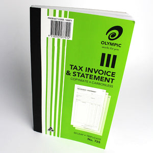 Olympic Carbonless Triplicate Tax Invoice & Statement