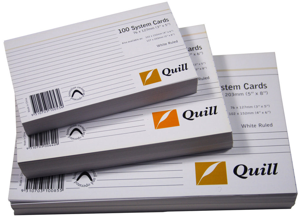 Ruled System Cards - Quill