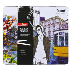 Jasart Colouring Pencils 24 Tin