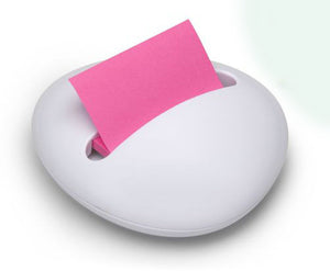 Pop-up Post-it Dispenser Pebble - White