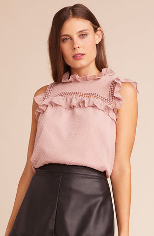 On Chiffon Mauve Rose Blouse