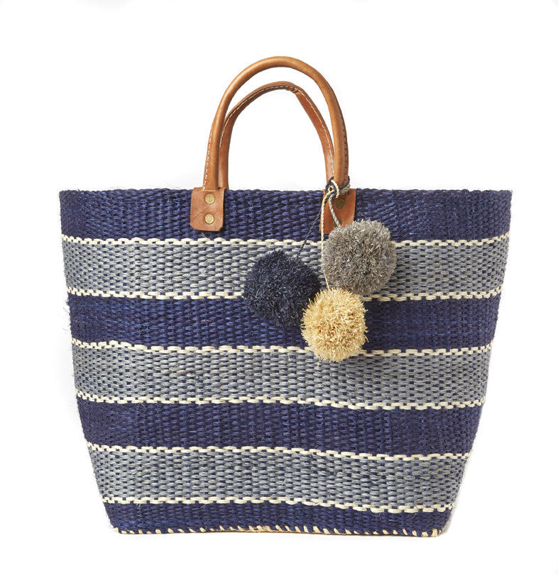 Capri Striped Basket Tote