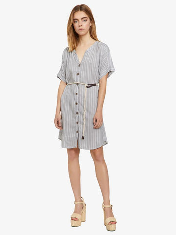 Ellis Stripe Shirt Dress