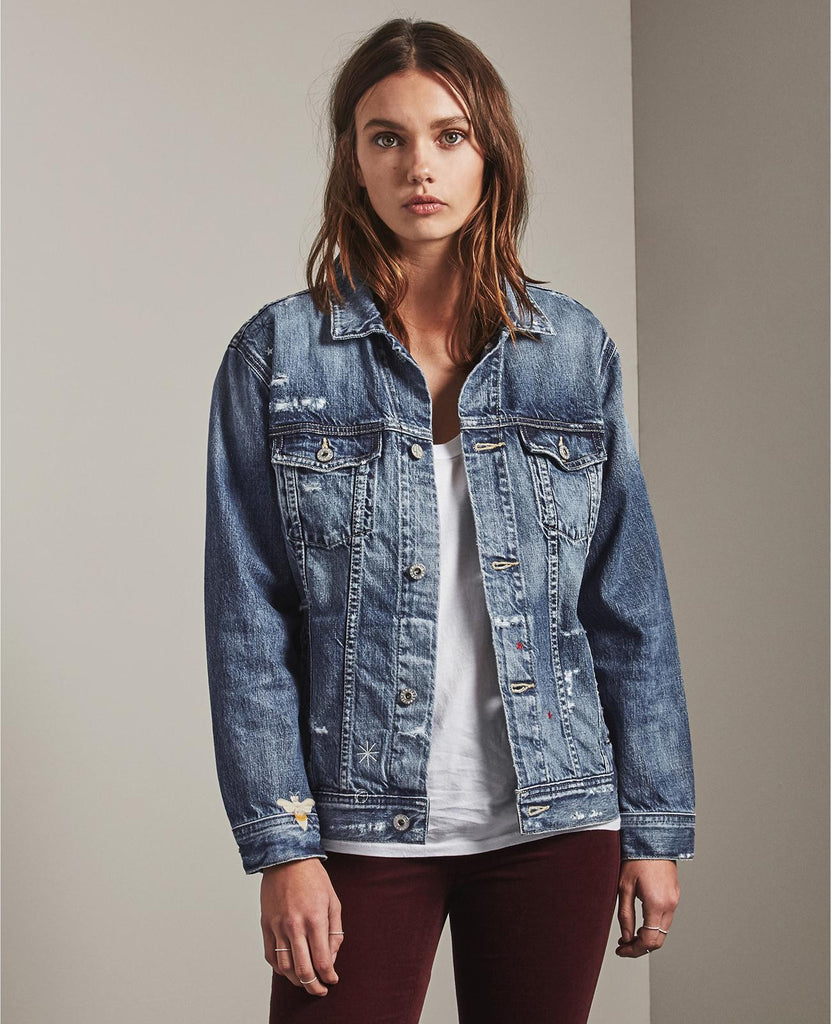 Embroidered Nancy Denim Jacket - 27 Years Woven Dream