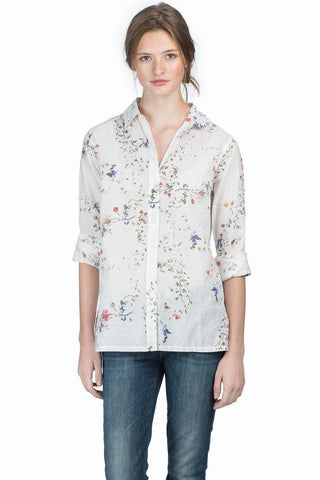 Long Sleeve Button Down-Vintage Floral