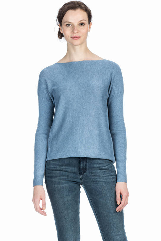 Long Sleeve Easy Boatneck Sweater