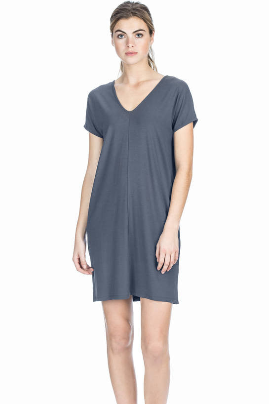 Double V-Neck Dress