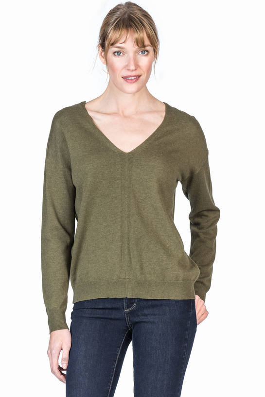 Laced Back V Neck Sweater