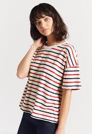 The Roadie Top in Vintage Stripe Jersey