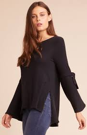 Hustle and Flow Tie Sleeve Sweater
