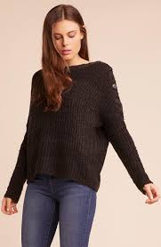 Level Up Buttoned Shoulder Sweater