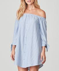 Ciara Sea Blue Stripe Dress