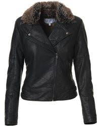 Dita Leather Faux Fur Lined Jacket
