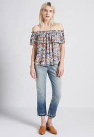 Dusty Bowl Floral Ruffle Top