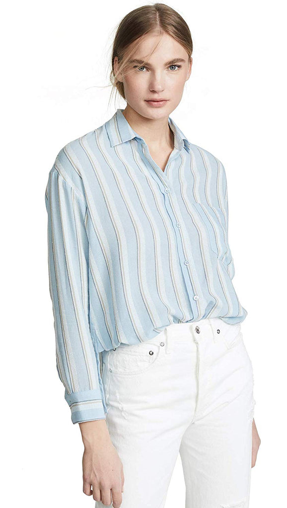 Textured Stripe Boxy Top