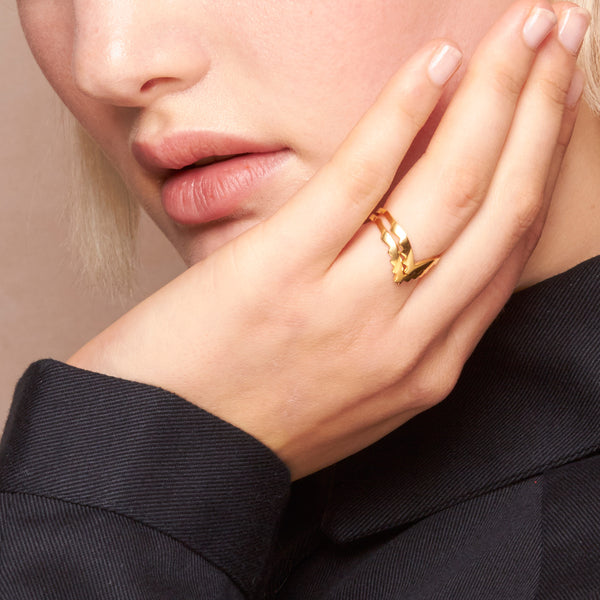 Escalier Ring Gold