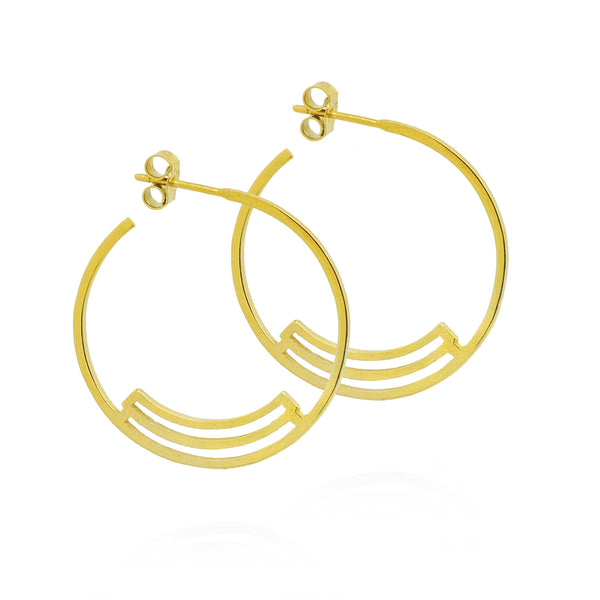 Gold Nuna Hoops