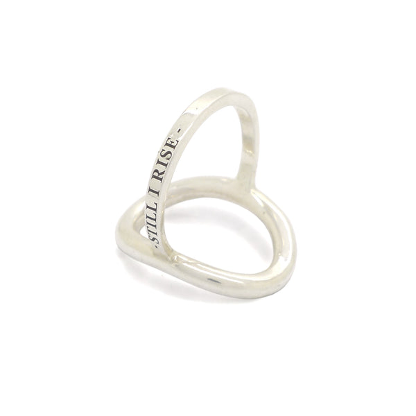 RISE ring silver