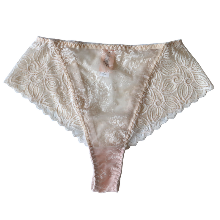 CHAMPAGNE PAPI HIGH WAIST | LACE
