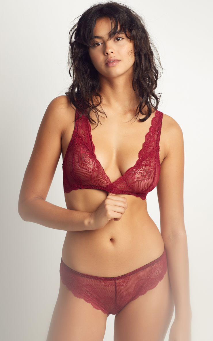 Clarissa Brazilian Red | Lace Panty