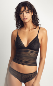 Heather Cami Black | Made in Montreal