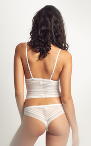 Heather Cami White | Made in Montreal
