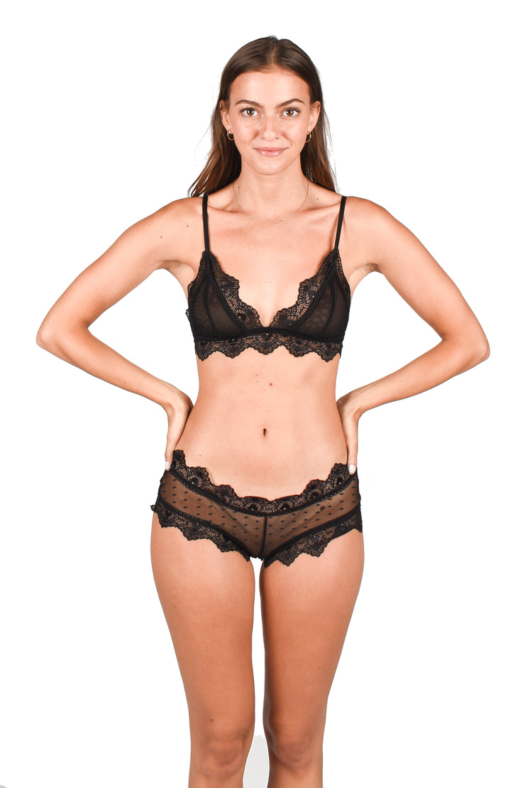 Juliette Panty Black | Mesh