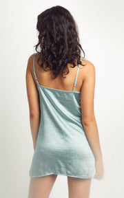 MINT KISS SATIN SLEEPDRESS