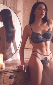 Monica Bra Silver Blue | Luxurious Lingerie
