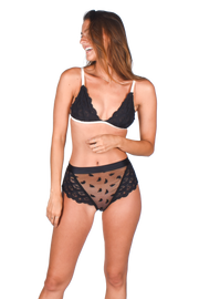 Olivia HighWaist Panty Black | Lace
