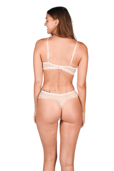 Yasmeen Panty Light Pink | Lace Lingerie