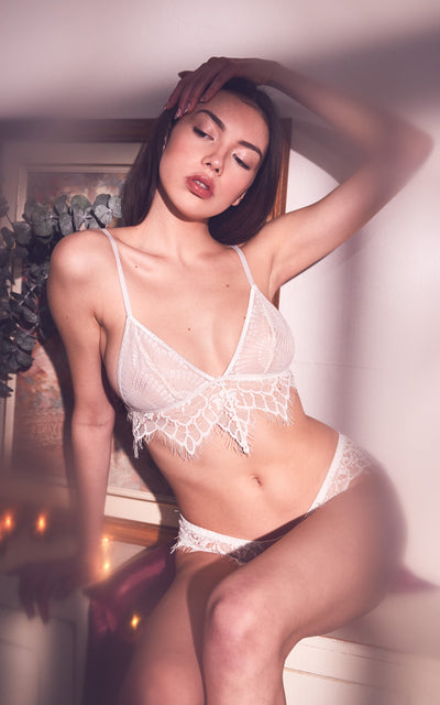 Psyché Bralette White |  Hand Made