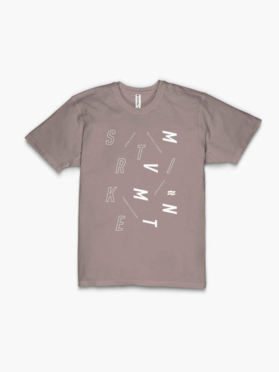 STRIKE MVMNT Men's Timeless Vented T-Shirt with Scatter print in Atmosphere and Classic White