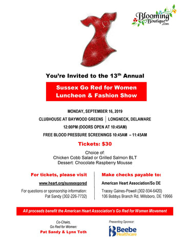 Sussex Go Red Flyer