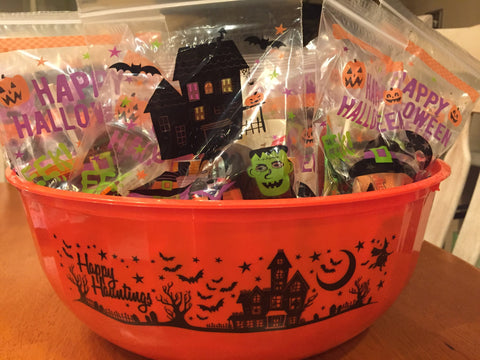 Trick or Treat Bags at Blooming Boutique