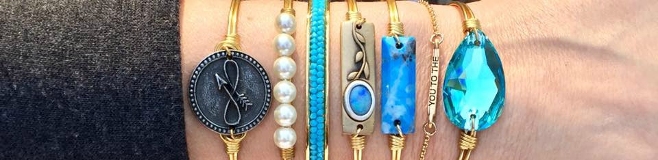 Luca + Danni Pearl and Beaded Bangles at Blooming Boutique