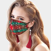 Copy of Christmas Mask-Plaid Snowflakes-Christmas Plaid