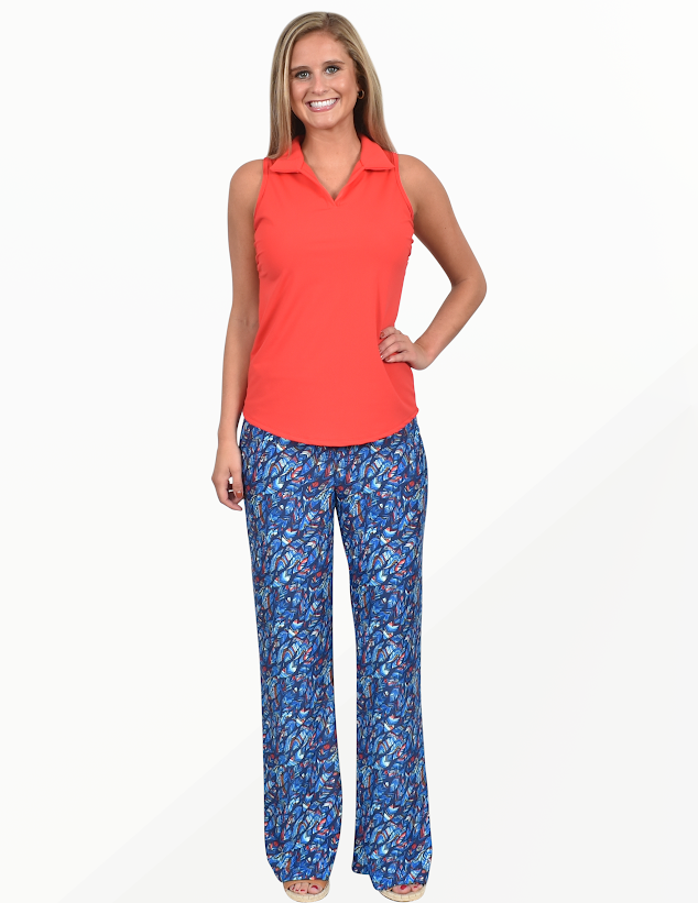 Southwind Beach Pants-Feathers