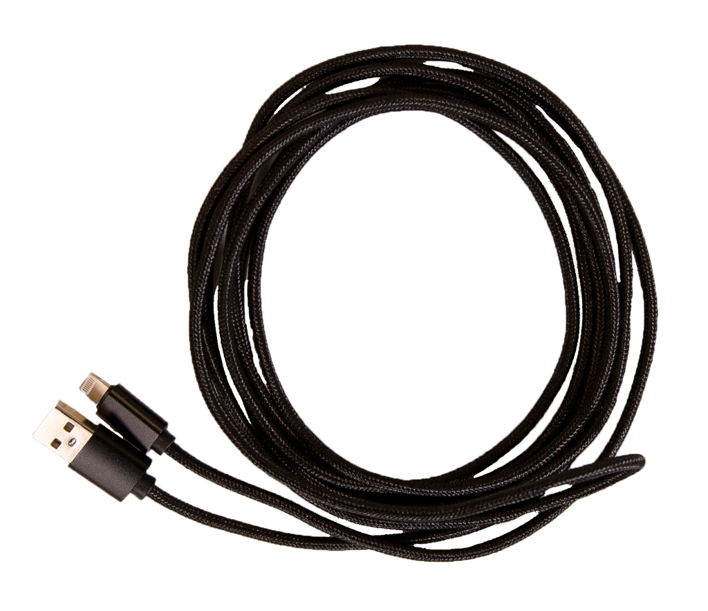 Simply Southern 10ft Charging Cable-Braided-Black