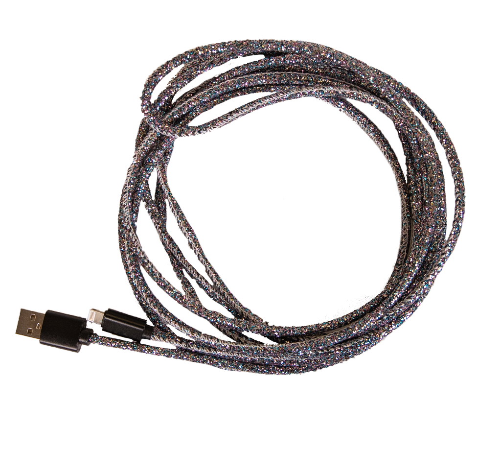 Simply Southern 10ft Charging Cable-Glitter Black